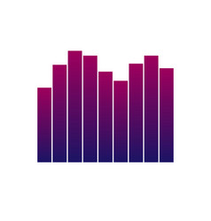 equalizer icon music player sign musical symbol vector image