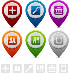Location Markers vector image vector image