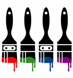 paintbrush icon set vector image