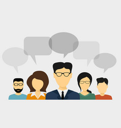 people talk concept vector image vector image