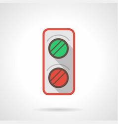 railroad traffic light flat color icon vector image