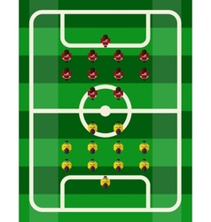 Soccer Stadium Top View vector image