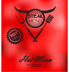 Steak Menu Poster vector image vector image