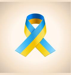 Ukrainian Flag in the Ribbon vector image