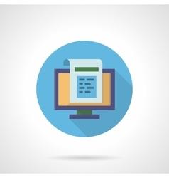 Web newsletter flat round icon vector