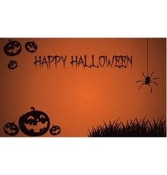 Backgrounds Halloween pumpkins and spider vector image vector image