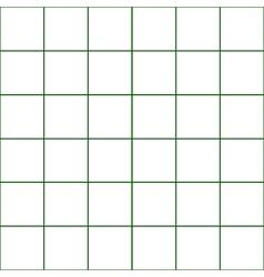 Dark Green Grid White Background vector image vector image