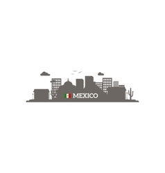 Mexico skyline silhouette vector image