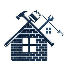 repair and maintenance of home symbol vector image