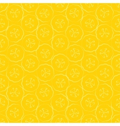 Seamless pattern slice of banana vector image vector image