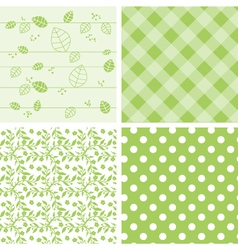 Set of green background vector image vector image