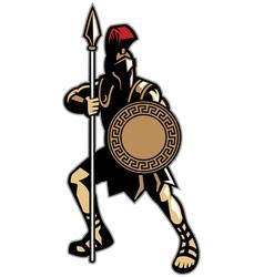 spartan mascot vector image