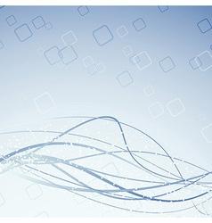 Swoosh blue lines background vector image vector image