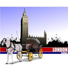 6229 london trip vector image