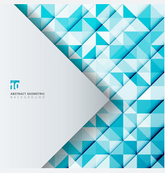 abstract geometric pattern blue color triangles vector image vector image