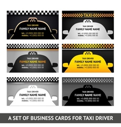 Business card taxi - fifth set vector image