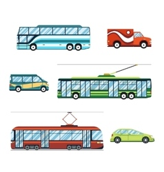 City transport flat icons vector image vector image