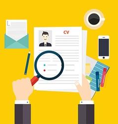 CV resume Job interview concept Writing a resume vector image