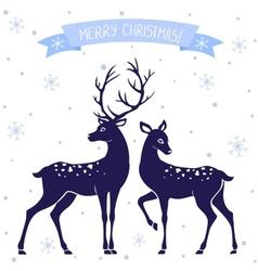 Deer christmas vector