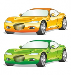 isolated cars vector image