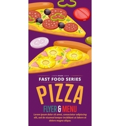 Pizza sale flyer vector image