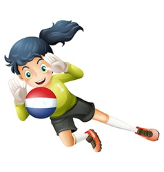 A soccer player from Netherlands vector image