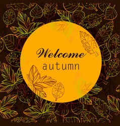 autumn color stylize template with vector image vector image