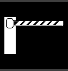 barrier white color icon vector image