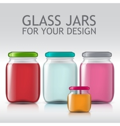 Glass bottles empty transparent set Template of vector image vector image