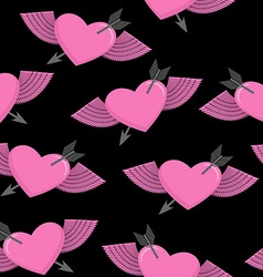 Heart and arrow symbol of love Winged heart vector image vector image