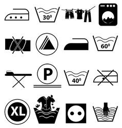 Laundry icons set vector image