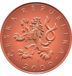 Obverse gold Money ten czech crones coin vector image vector image