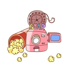 A movie theater vector