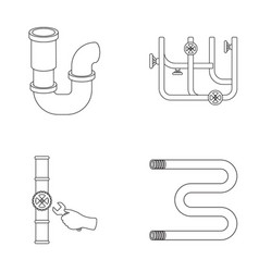 a siphon a towel warmer and other equipment vector image