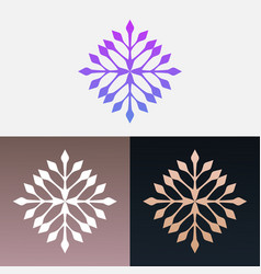 Abstract decorative leaves design clipart symbol vector