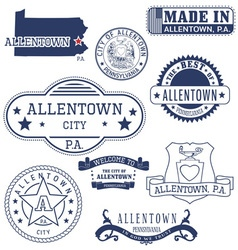 Allentown city pennsylvania stamps and seals vector
