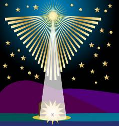angel star vector image