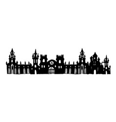 Authentic castle tower hand drawn vector