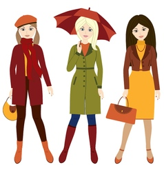 Autumn Girls vector