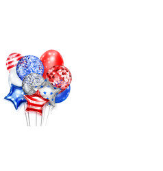 background with balloons in colors usa vector image