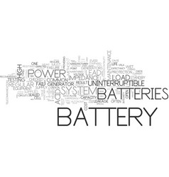 Battery maintenance text word cloud concept vector