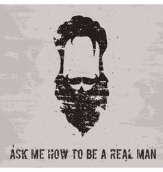 Beard concept vector