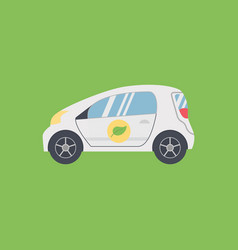 Biofuel green energy car vector