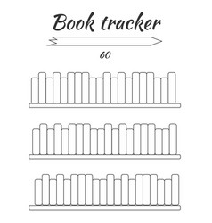Book tracker for filling hand can be hung on vector