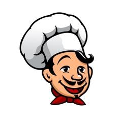 Cartoon chef in toque vector image