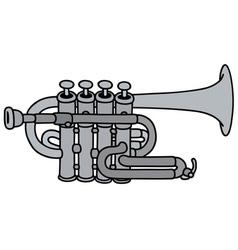 Classic concert trumpet vector image vector image