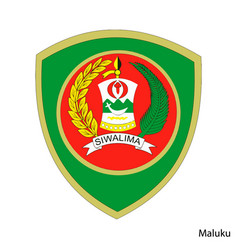 Coat arms maluku is a indonesian region vector