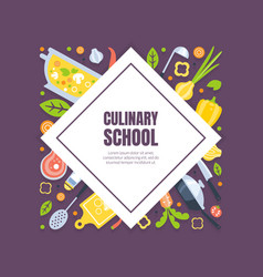 Cooking class banner template culinary courses or vector