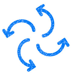 Cyclone arrows grunge icon vector