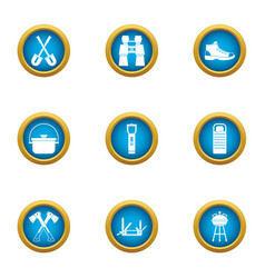 Dispatch office icons set flat style vector